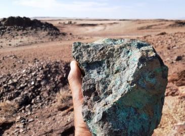 Mineralised quartzite near Gorob drill site